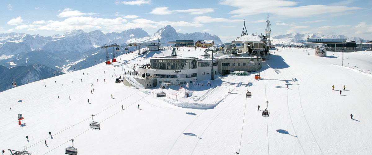 Der Kronplatz bei Olang Südtirol im Winter