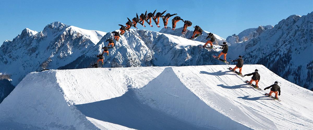 Snowboarding im Funpark am Kronplatz bei Olang Südtirol im Winter – Aktivitäten in Olang in Südtirol im Sommer und im Winter
