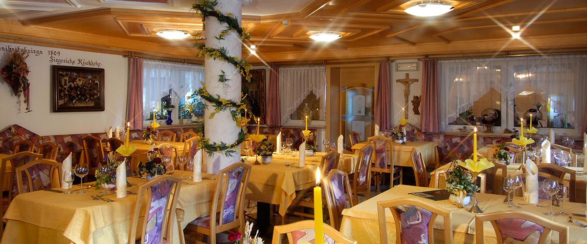 Restaurant im Hotel Aichner **** in Olang Südtirol